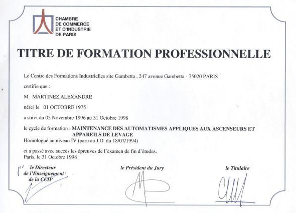Becia diplome ccip ascenseur - Chambre de commerce et d industrie de l essonne ...
